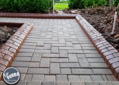 Stamped Basketweave Walkway