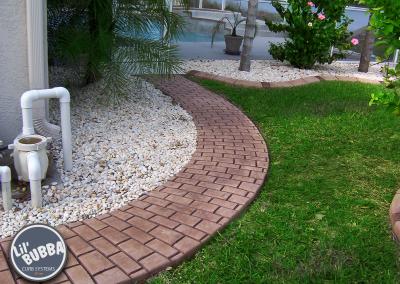 Stamped Single Brick Walkway